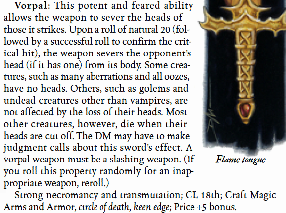 Vorpal Sword Mechanics – ThinkDM