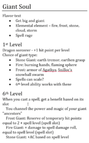 Giant Soul Sorcerer ThinkDM