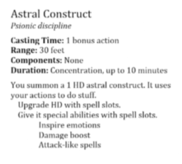 Astral Construct
