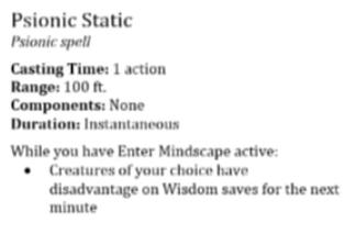 Psionic Static