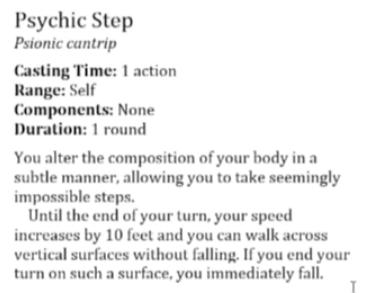 Psychic Step