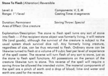 Flesh to Stone 1e