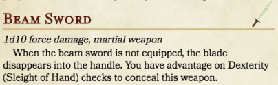 SMB DnD - Beam Sword