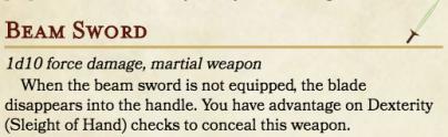 SMB DnD - Beam Sword