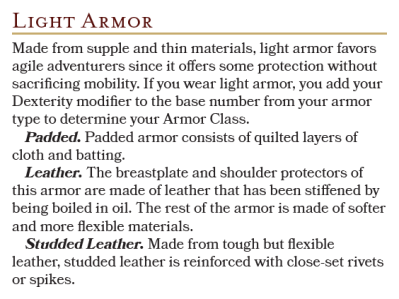 Light Armors