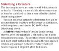 Stabilizing a Creature