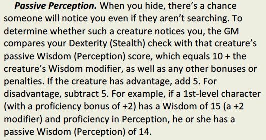Stealth vs. Passive Perception