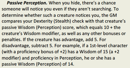 Stealth vs. Passive Perception