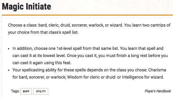 magic initiate