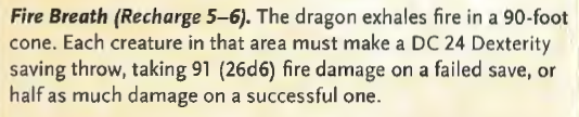 Ancient Fire Dragon Breath Weapon