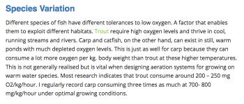 Trout Oxygen Consumption