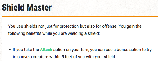 Shield Master shove