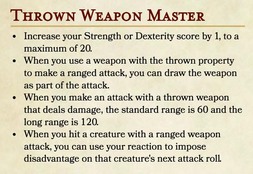 Thrown Weapon Master