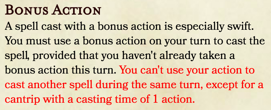 Casting a Bonus Action and Reaction Spell on Your Turn