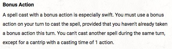 Bonus Action Spell Limitation