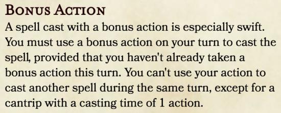 Bonus Action Spellcasting
