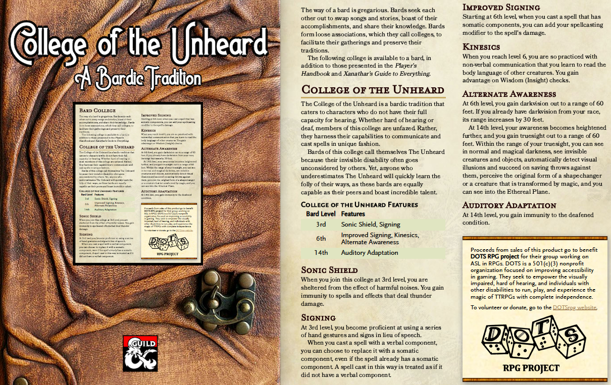 Bard College of the Unheard