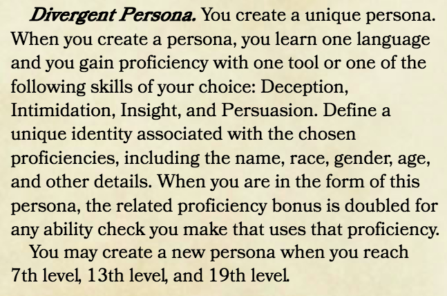 Divergent Persona revised