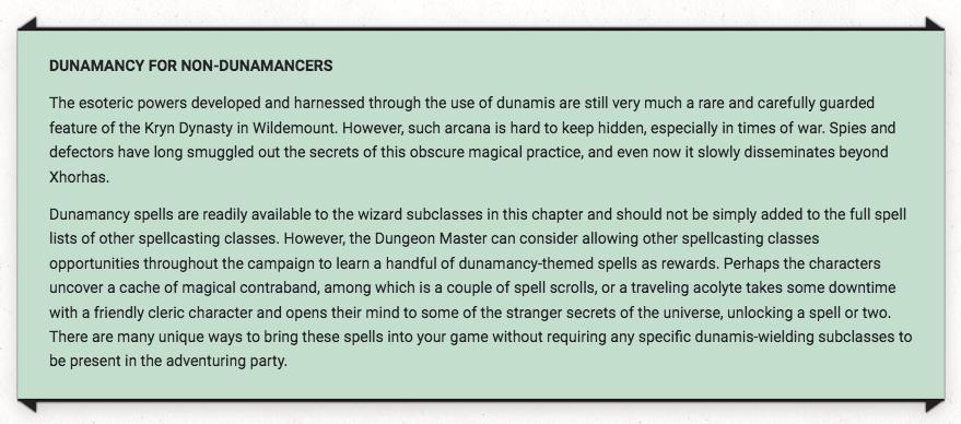 Dunamancy for Non-Dunamancers