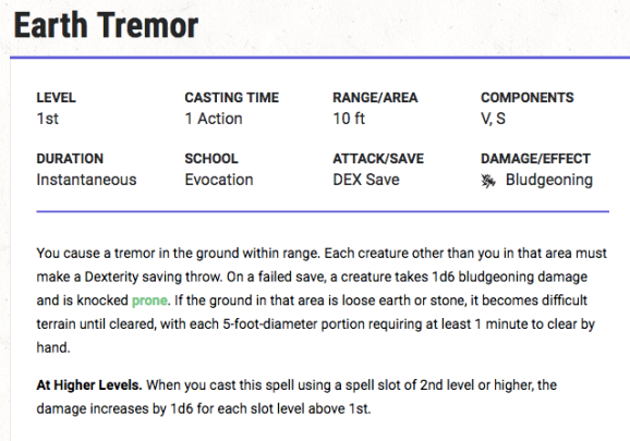Earth Tremor Spell