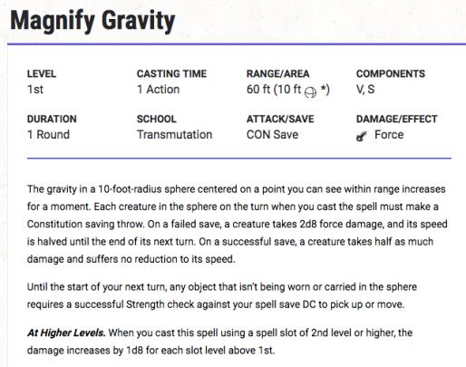 Magnify Gravity Spell