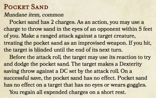 Pocket Sand (Item)
