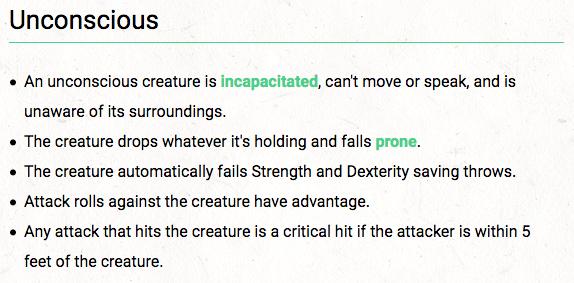 Unconscious Condition